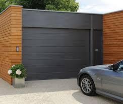Grey Electric Roller Garage Door